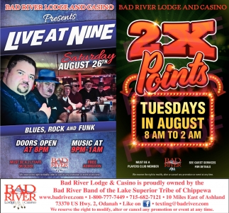 Live at Nine. Blues, Rock and Funk