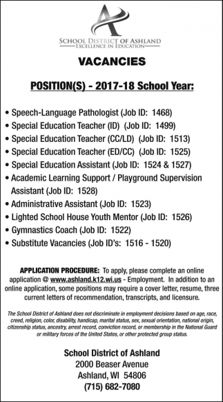 special education assistant cover letter