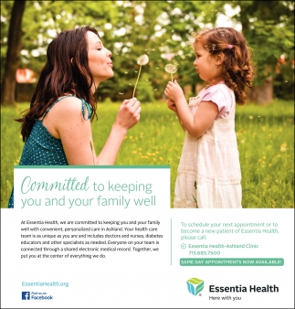 Committed to keeping you and your family well