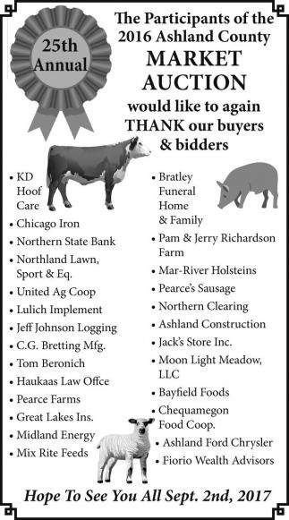 2016 Ashland County Market Auction