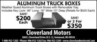Aluminum Truck Boxes