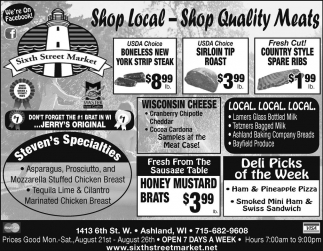 Shop Local, Stop Quality Meats