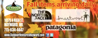 Fall items arriving daily