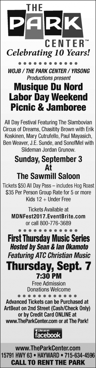Musique Du Nord Labor Day Weekend Picnic & Jamboree