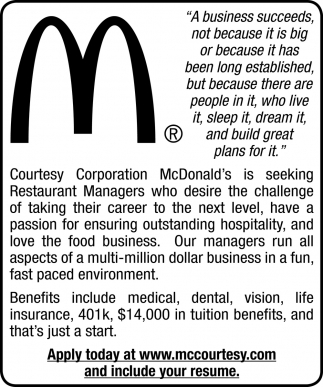 Resaturant Manager
