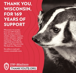 Thank You Wisconsin, For 169 Years of Support