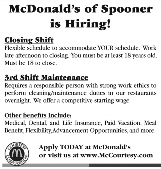 Closing Shift, Maintenance