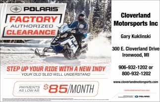 Polaris Factory Athorized Clearance