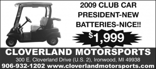 2009 Club Car President New Batteries-Nice!!