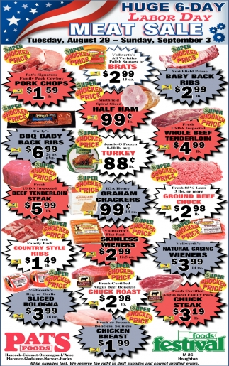 Labor Day Meat Sale