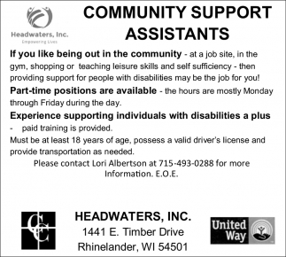 Community Support Assistants