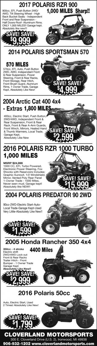 Polaris, Arctic Cat, Honda