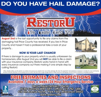 DO YOU HAVE HAIL DAMAGE?