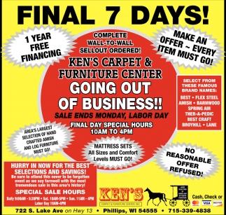 Final 7 Days!