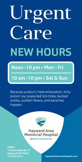Urgent Care New Hours