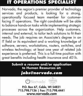 Operations Specialist