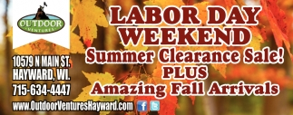 Labor Day Weekend Summer Clearance Sale!