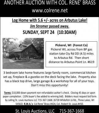 Log Home on Arbutus Lake