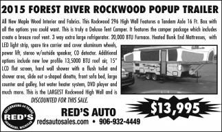 2015 Forest River Rockwood Popup Trailer