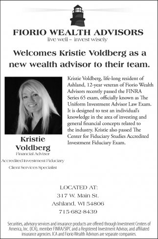 Welcomes Kristie Voldberg as a new wealth advisor to their team