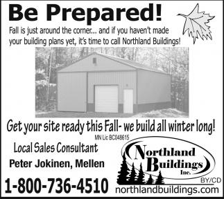 Get your site ready this Fall - we build all winter long!
