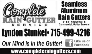 Seamless - Aluminum - Rain Gutters