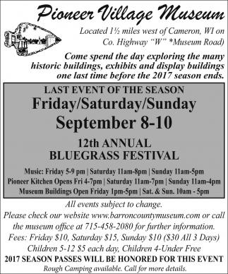12th Annual Bluegrass Festival