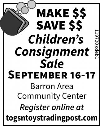 Children's Consignment Sale