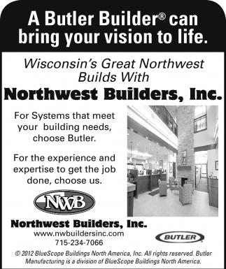 Wisconsin's Greats Northwest Builds