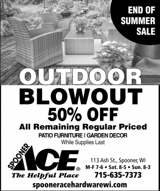 Outdoor Blowout 50% off