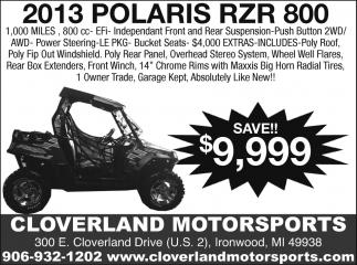2013 Polaris RZR 800