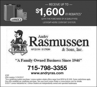 Receive up to $1,500 in rebates*