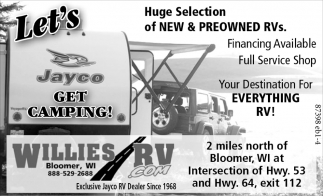 New & Preowned RVs