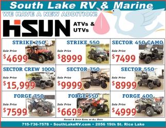 New Addition! ATVs & UTVs