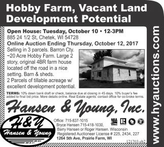 Hobby Farm, Vacant Land