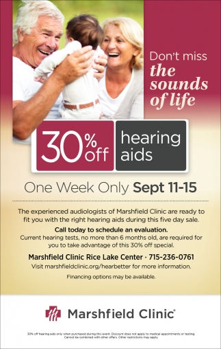30% off hearing aids