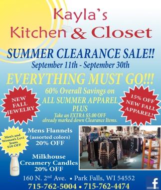 Summer Clearance Sale!!