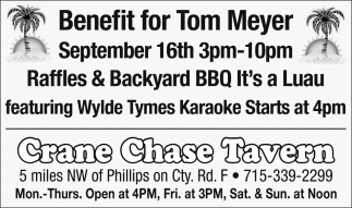 Benefit for Tom Meyer