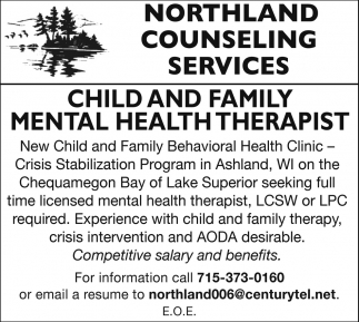 Child and Family Mental Health Therapist