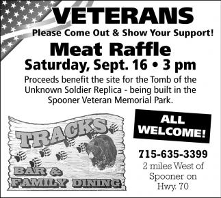 Veterans Meat Raffle