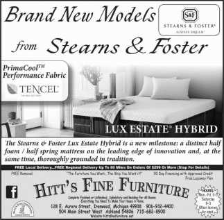 Brand New Models from Stearns and Foster