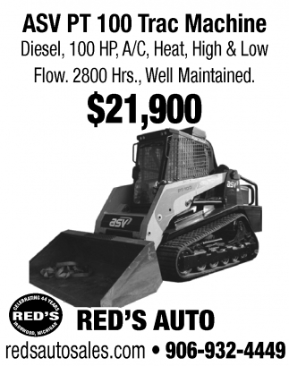 ASV PT 100 Trac Machine