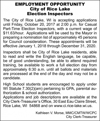 Election Inspector