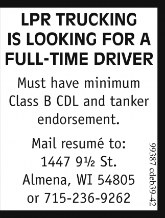 Full-Time Driver