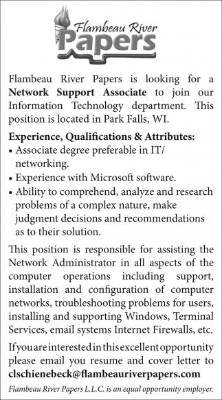 Network Support Associate
