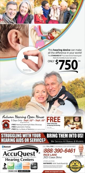 Autumn Hearing Open House