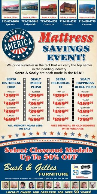 Mattress Savings Event