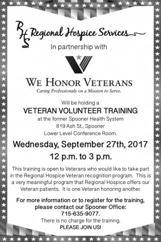 Veteran Volunteer Training