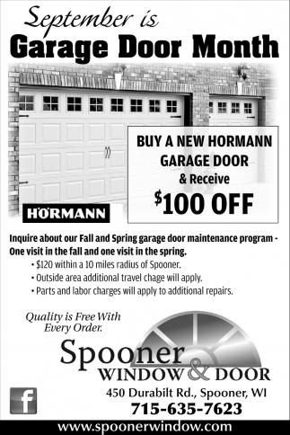Garage Door Month