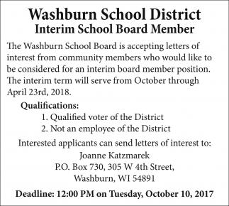 Interim School Board Member